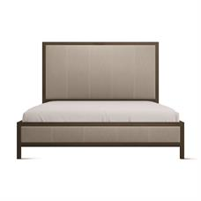 Cal King Elm Leather Bed
